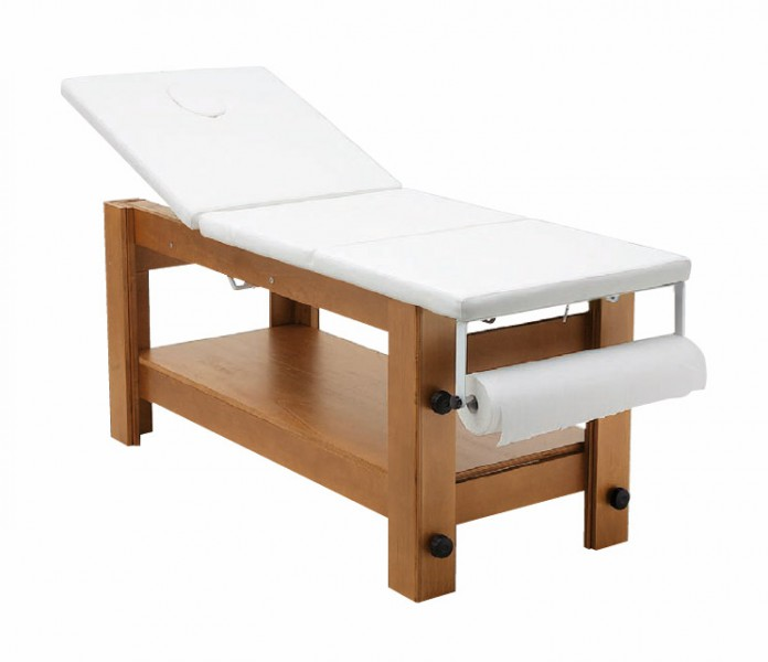 Massageliege lady ml xiv stationaer mit holzgestell massageliegen massageausstattung - Table massage professionnelle ...