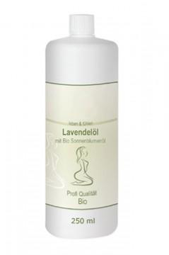 Lavendelöl auf Bio-Sonnenblumenölbasis