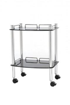 Royal Beistelltisch II-3 Glas schwarz